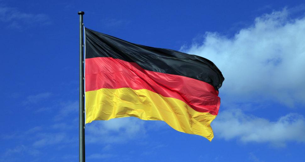 Eine Deutschlandflagge
